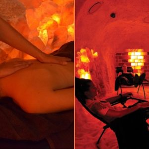 Aromatherapy or Magnesium Massage and Salt Cave