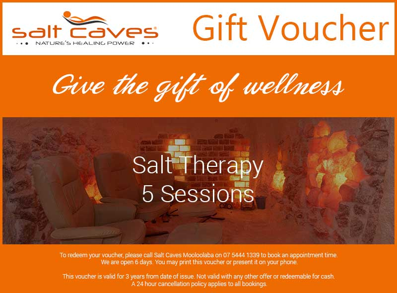 Salt Therapy Gift Voucher 5 Sessions