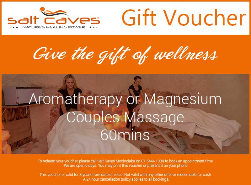 Aromatherapy Or Magnesium Couples Massage Gift Voucher | 60mins