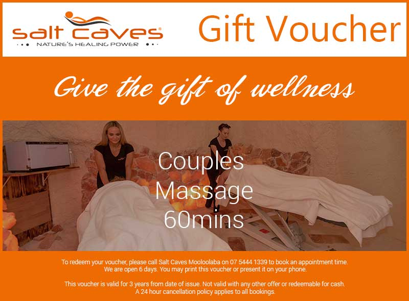 Couples Massage Gift Voucher | 60mins