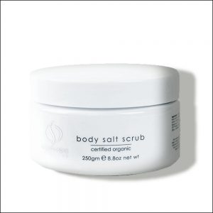 body salt scrub
