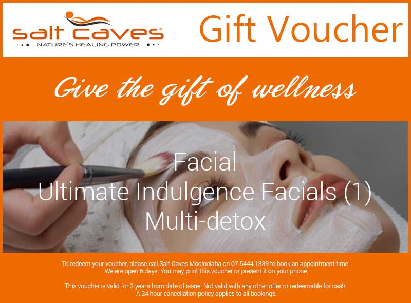 Facial Gift Voucher: Ultimate Indulgence Facials (1) Multi-detox
