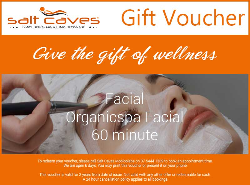Facial Gift Voucher: Organicspa Facial 60 minute
