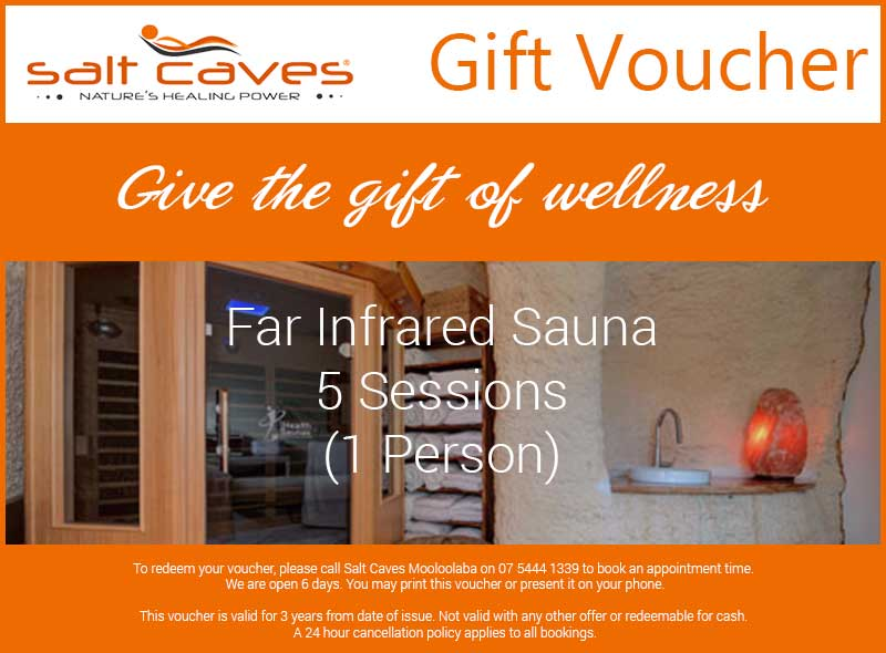 Far Infrared Sauna Gift Voucher 5 Sessions (1 Person)