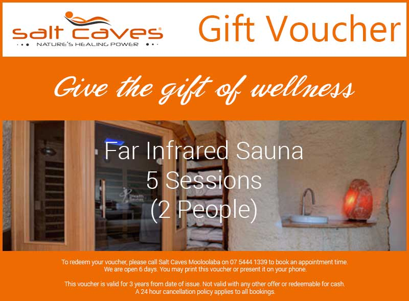 Far Infrared Sauna Gift Voucher 5 Sessions (2 People)