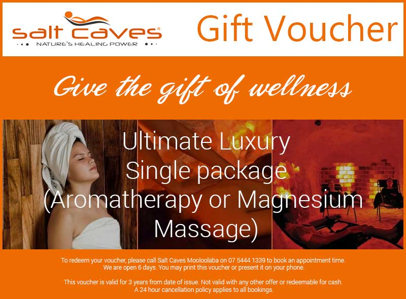 Ultimate Luxury Single Package (Aromatherapy or Magnesium Massage)