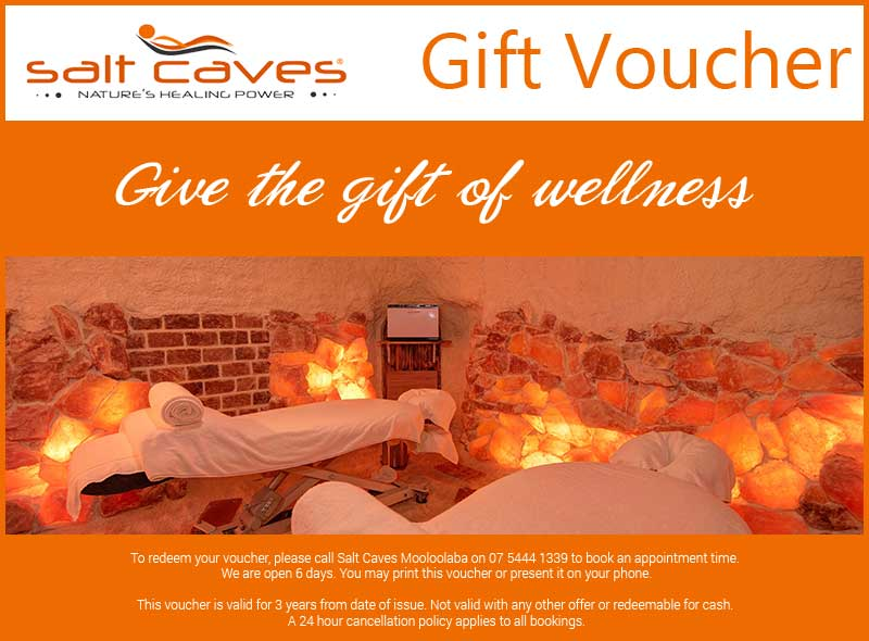 Salt Caves Mooloolaba Gift Voucher