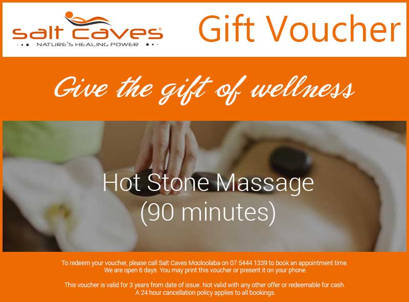 Hot Stone Massage Gift Voucher | 90 Minutes